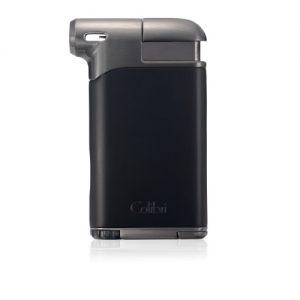 Colibri Pacific Air Single Soft Flame Lighter - Black & Gunmetal