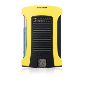 Colibri Daytona Single-jet Flame Lighter - Black + Yellow