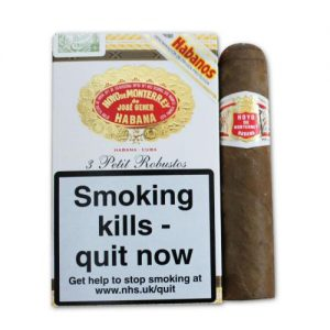 Hoyo de Monterrey Petit Robusto Cigar - Pack of 3's