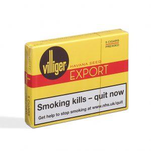 Villiger Export Pressed Cigar - 1 Pack of 5 (5 cigars)
