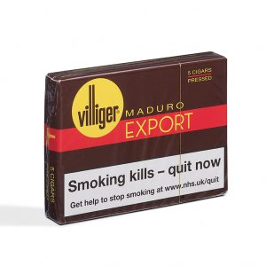 Villiger Export Pressed Maduro Cigar - Pack of 5 (5 cigars)