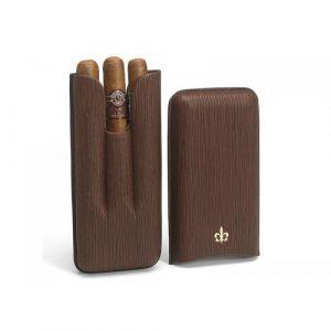 Montecristo Fleur de Lis Leather Case with 3 Linea 1935 Cigars